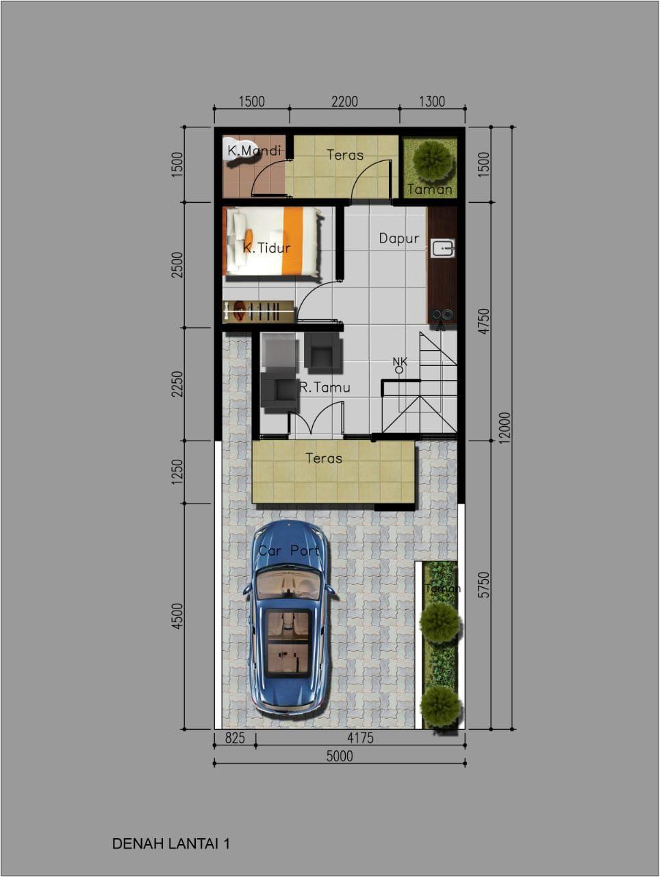 Tipe Rumah Alexandrite - denah lt 1