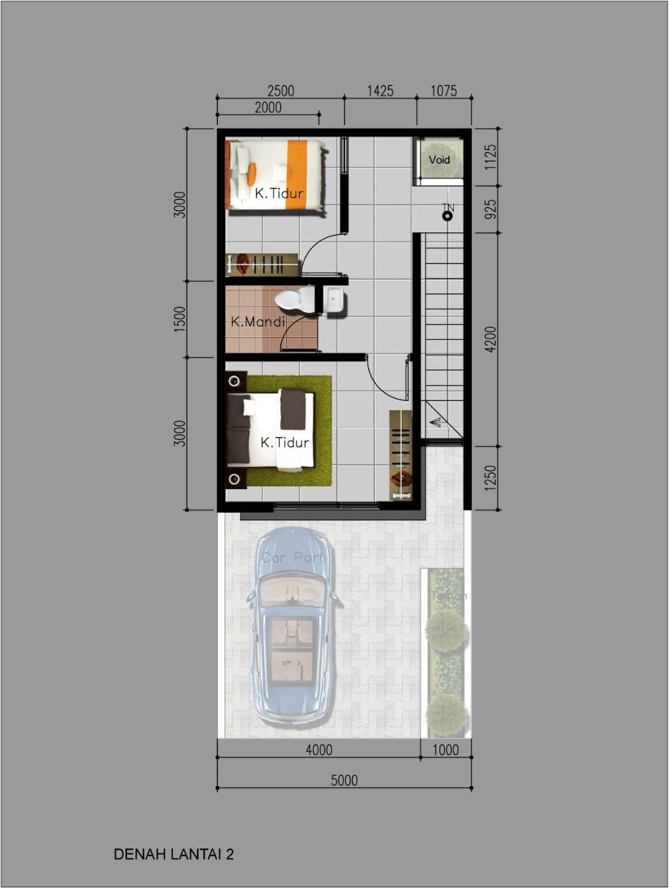 Tipe Rumah Alexandrite - denah lt 2
